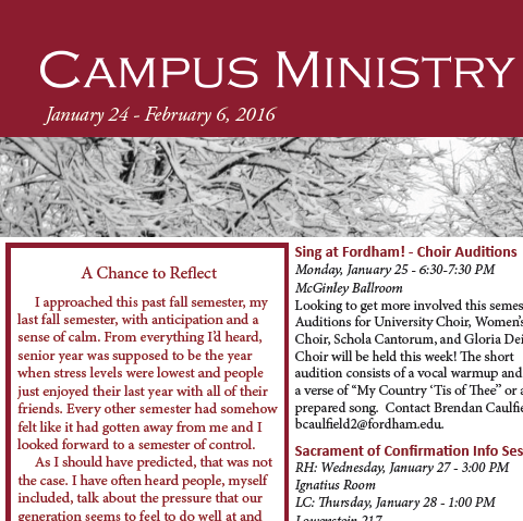 January 24 Newsletter