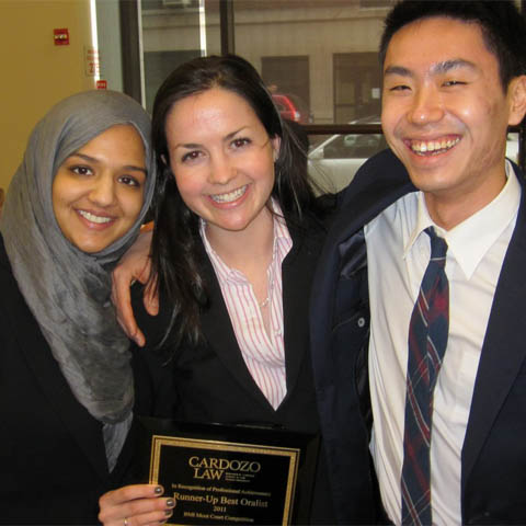 FLS Moot Court students with plaque 480x480 LG