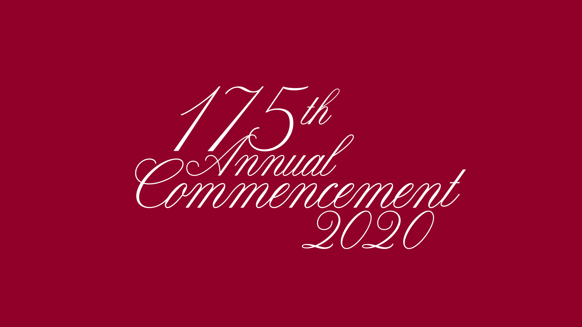 175th Commencement Horizontal Zoom Background