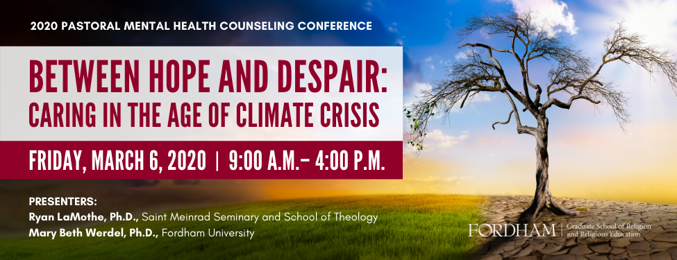 Banner image with the title of the 2020 Pastoral Mental Health Counseling Conference
