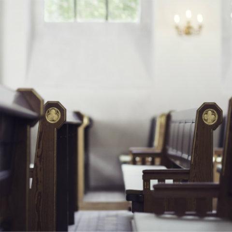 empty pew in a church