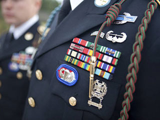 Army ROTC badges and medals