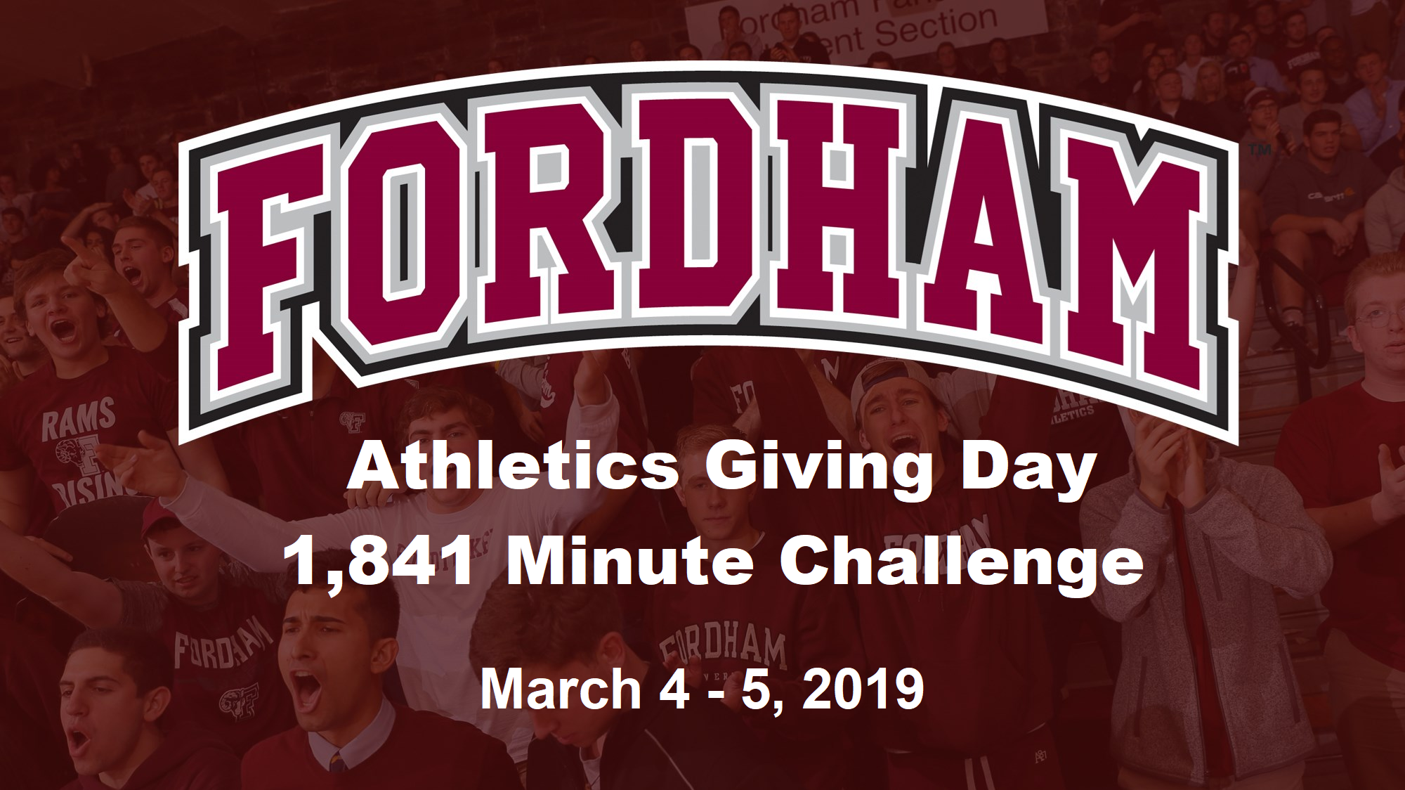Save the Date for Fordham Athletics Giving Day: March 4-5, 2019