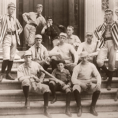 The baseball team in 1889.