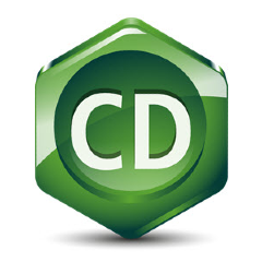 ChemDraw logo is a green hexagon.