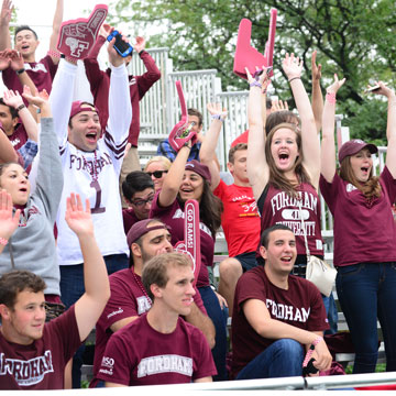 Students cheer