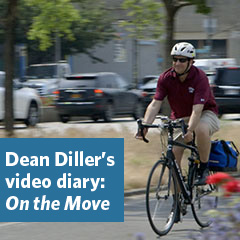 Fordham Law Dean Matthew Diller bicycling in NYC