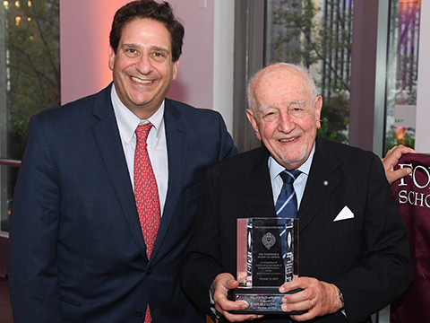 Fordham Law 2016 Stein Prize Recipient Guido Calabresi