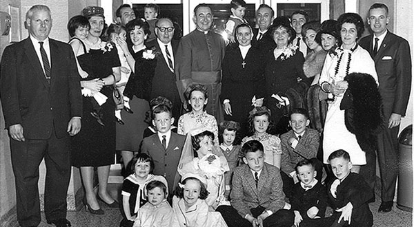 The Houlihan Murray clan in 1965