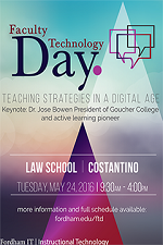 Flyer for Faculty Technology Day 2016