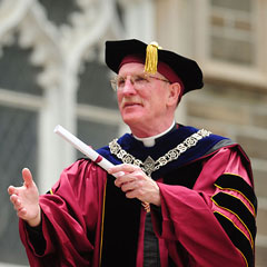 Father McShane at Commencement