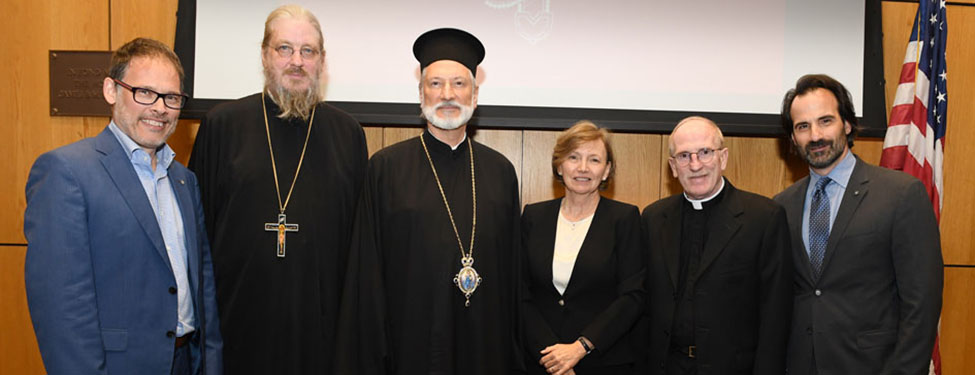 Father McShane with the Orthodox Christian Studies Center
