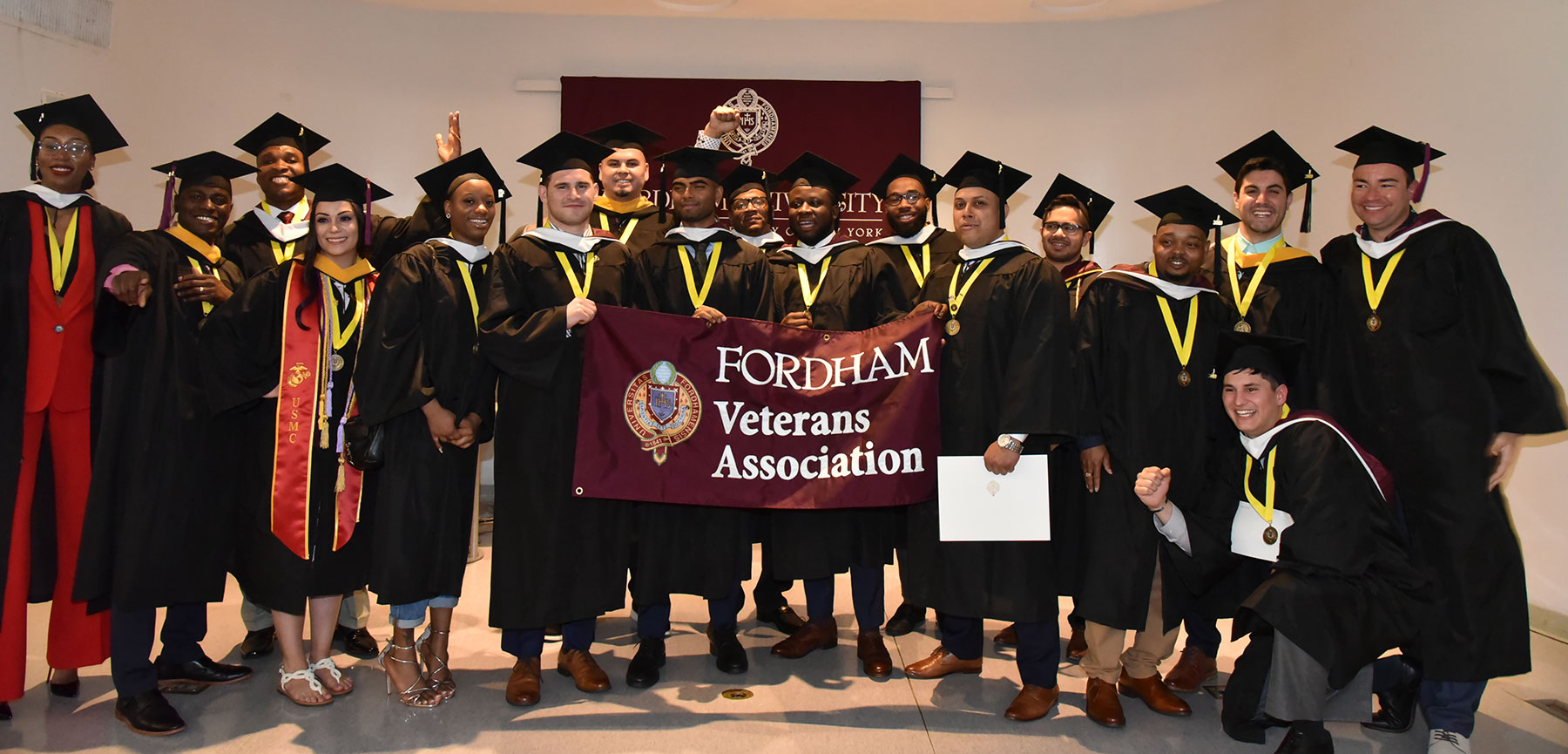 [Fordham veterans at commencement]