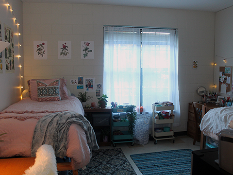 Furnished O'Hare Hall Double Bedroom
