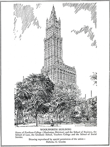 Gsas 100th anniversary Woolworth Building History webpage