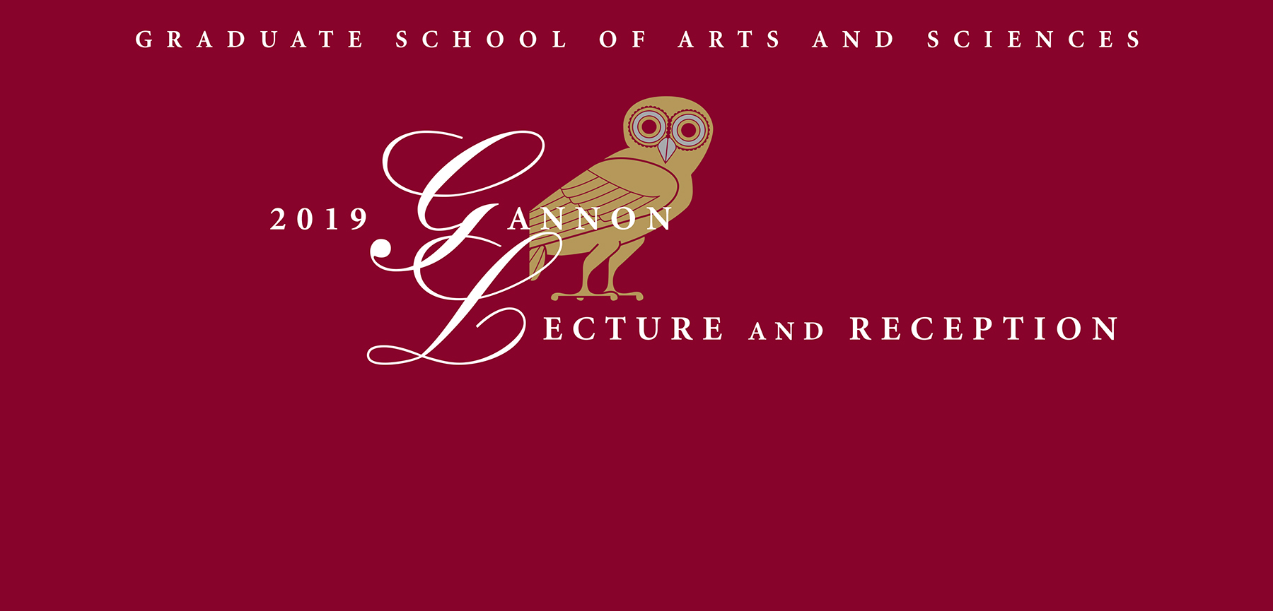 Gannon Lecture and Reception: March 7, 2019