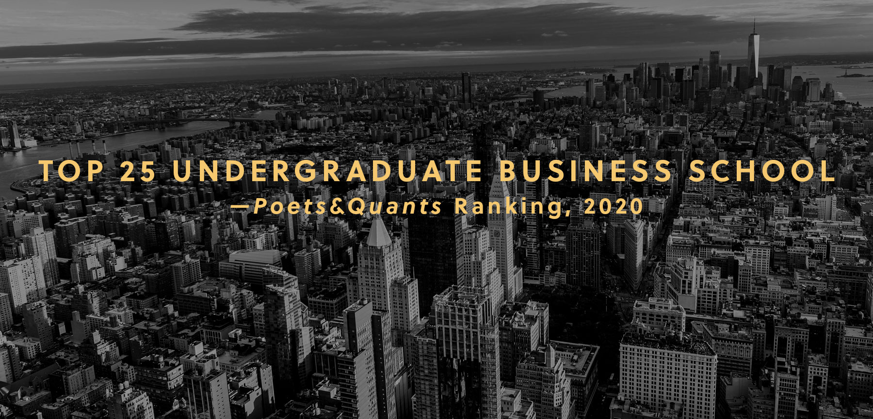 Gabelli Undergraduate Program Ranked in P&Q Top 25