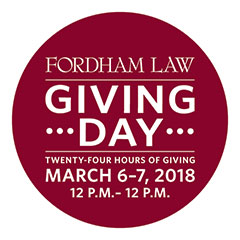 Fordham Law Giving Day, March 6-7, 2018