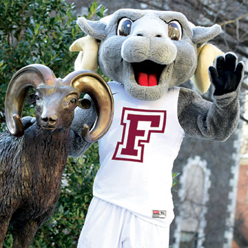 Giving Day Ram and Mascot