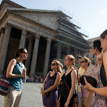 Group of Students in Front of Parthenon