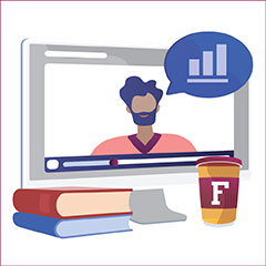 HR LinkedIn Learning books and computer graphic