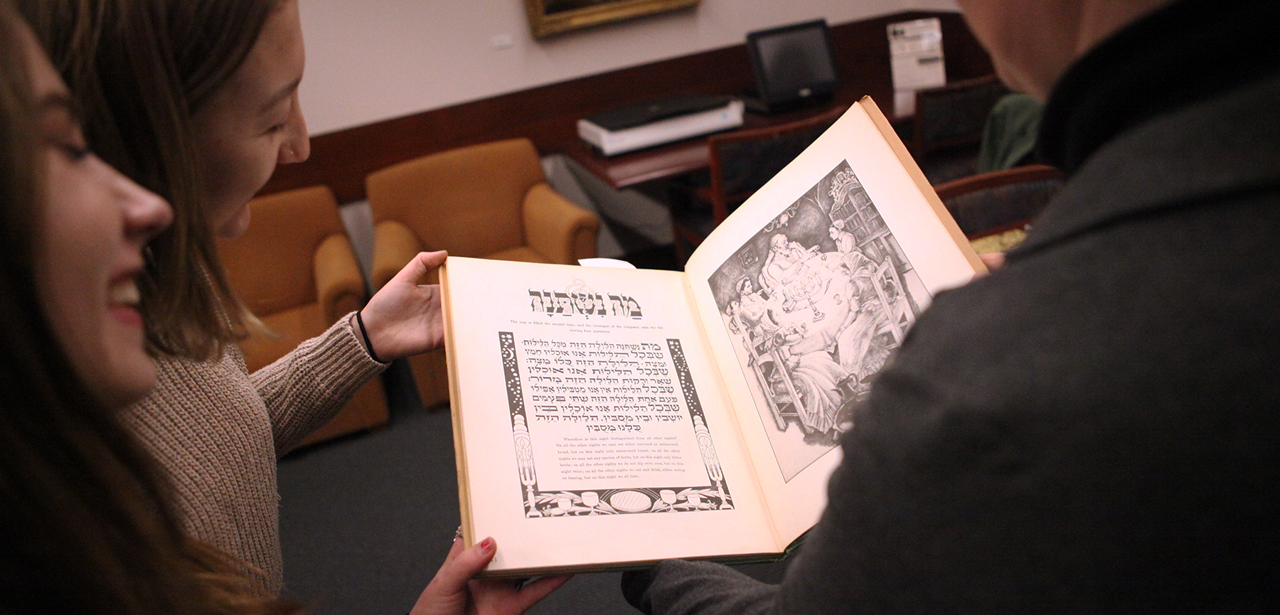 Students Curate Passover Haggadah Exhibit