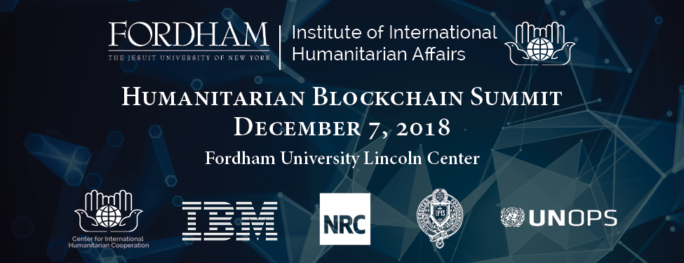 Humanitarian Blockchain Summit Banner 2018