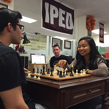 Graduate Students Playing Chess