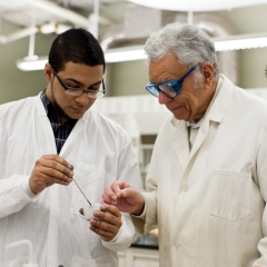 Student and Professor in Lab - SM