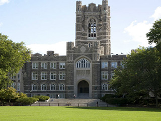 Keating Hall in Spring