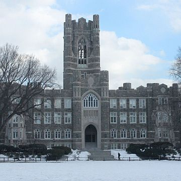 Keating Hall in Winter
