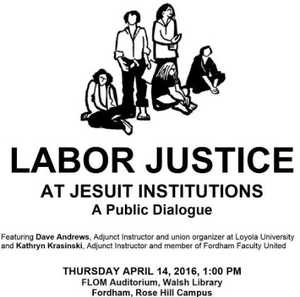 Labor justice at Jesuit Institutions a Public Dialogue