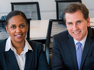 Fordham Law's Leah Hill and Michael W. Martin