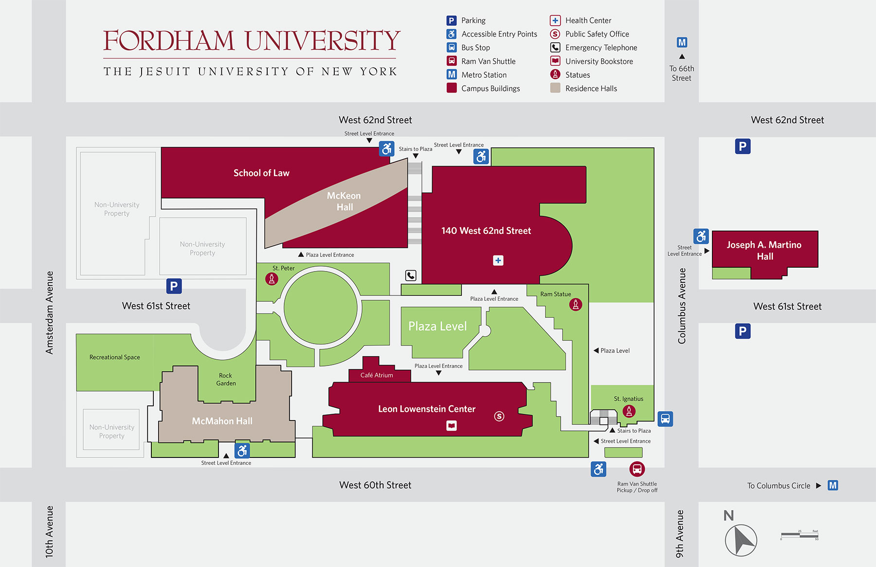 Lincoln center campus map