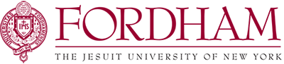 Fordham Alternative Wordmark with Seal and Tagline