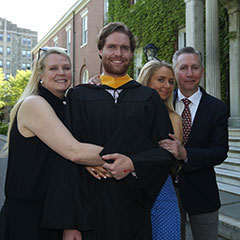 Parents and graduate at Commencement