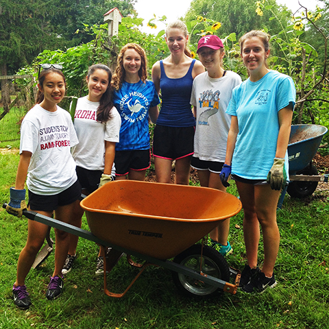 manresa service project wheelbarrow