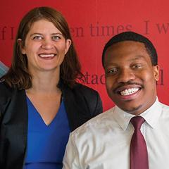 Fordham Law Grace Pickering and Dimitri Jean
