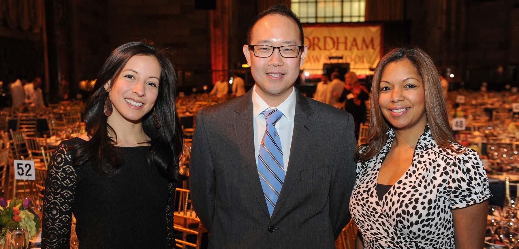 2015 Rising Stars Chieh Huang '08, Anamaria Segura '07, and Rosevelie Marquez Morales '02