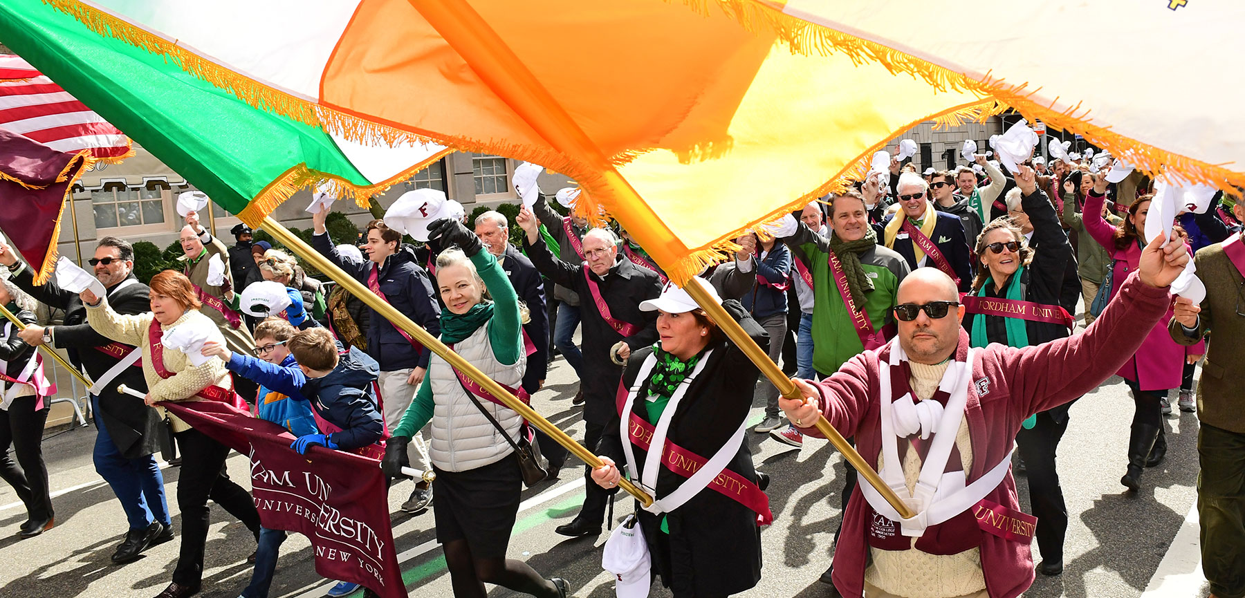 Fordham Marches in St. Patrick's Day Parade