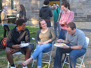 Students Eating Outside