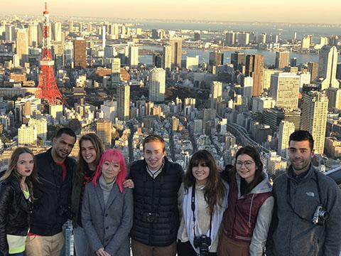 Students at Tokyo Tower