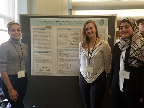 Salma Youssef at the 2018 Undergraduate Research Symposium
