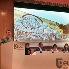 Urban Studies master's degree students present papers at and Ociogune conference in Bilbao, Spain