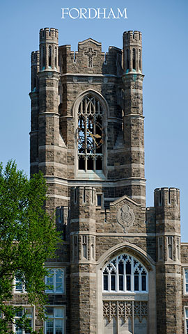 Vertical zoom background keating hall bell tower