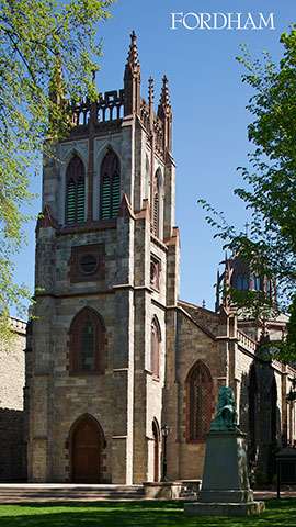 Vertical zoom background sunlight on university church
