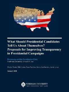 FLS-What should presidential candidates tell us about themselves?