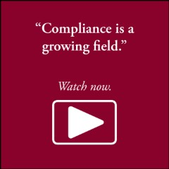 Compliance is a growing field.