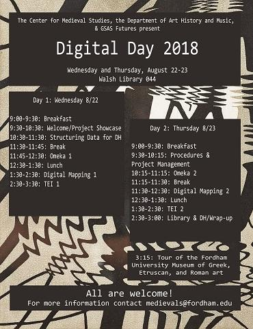 flyer gives program for 2018 digital day over Escher's rimpeling