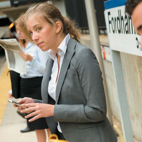 Female Student on Train Platform - LG